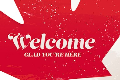 Canada Day Maple Leaf Welcome Video