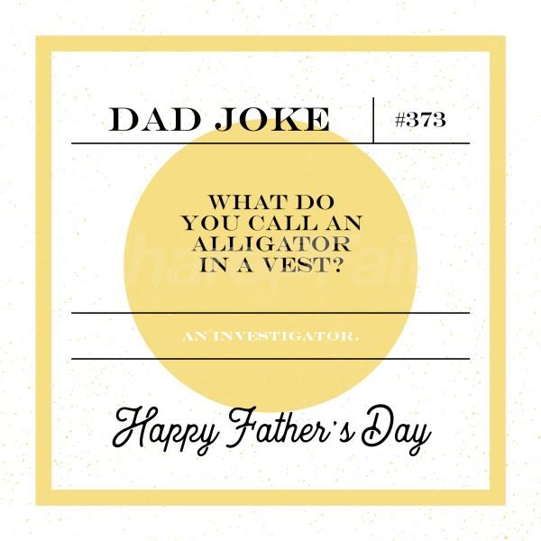 Dad Joke Alligator Social Media Graphic