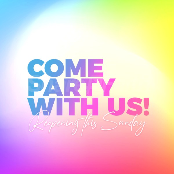 Come Party Social Media Graphic