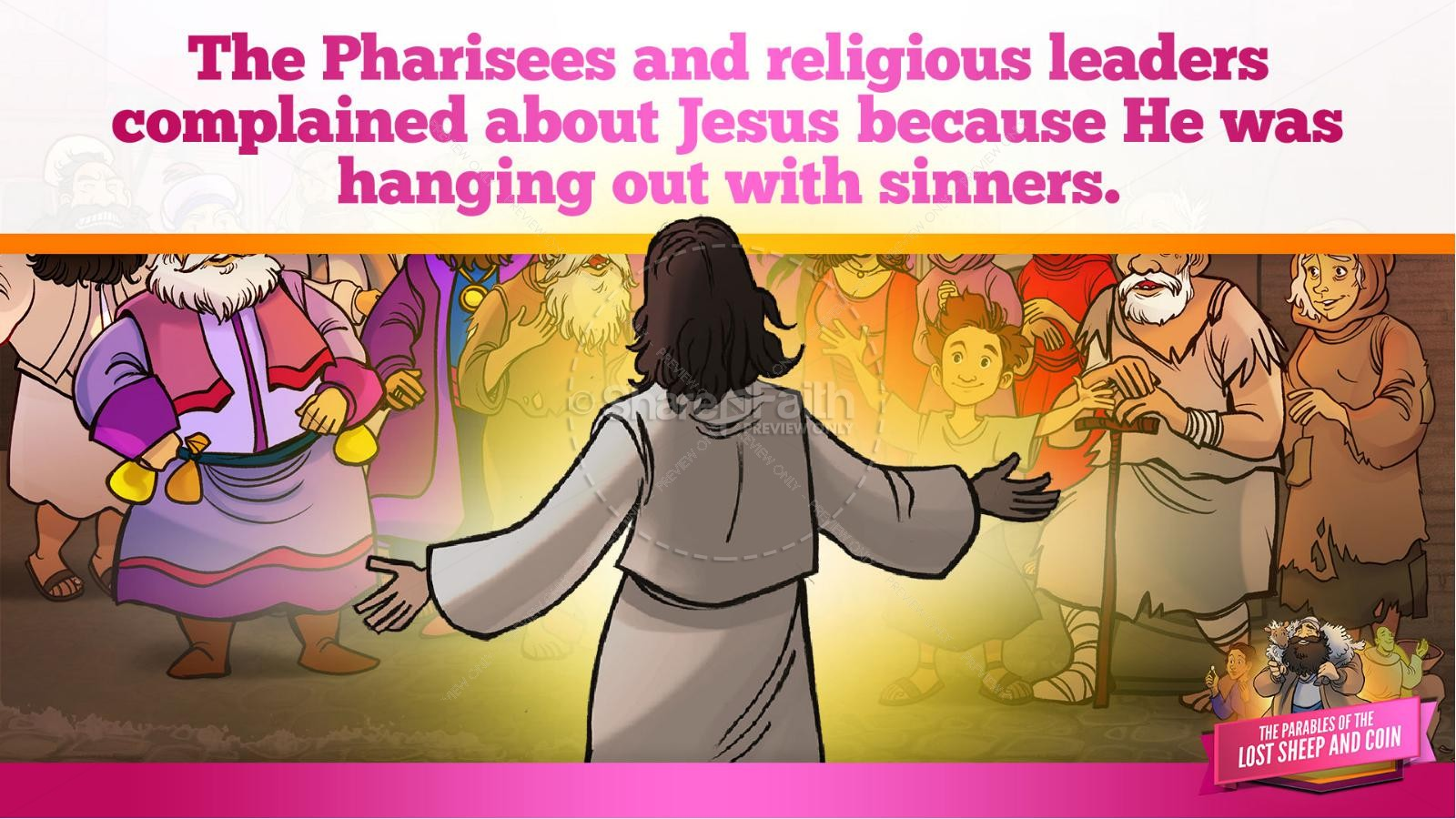 Luke 15 The Parables of the Lost Sheep and Coin Kids Bible Story | slide 12