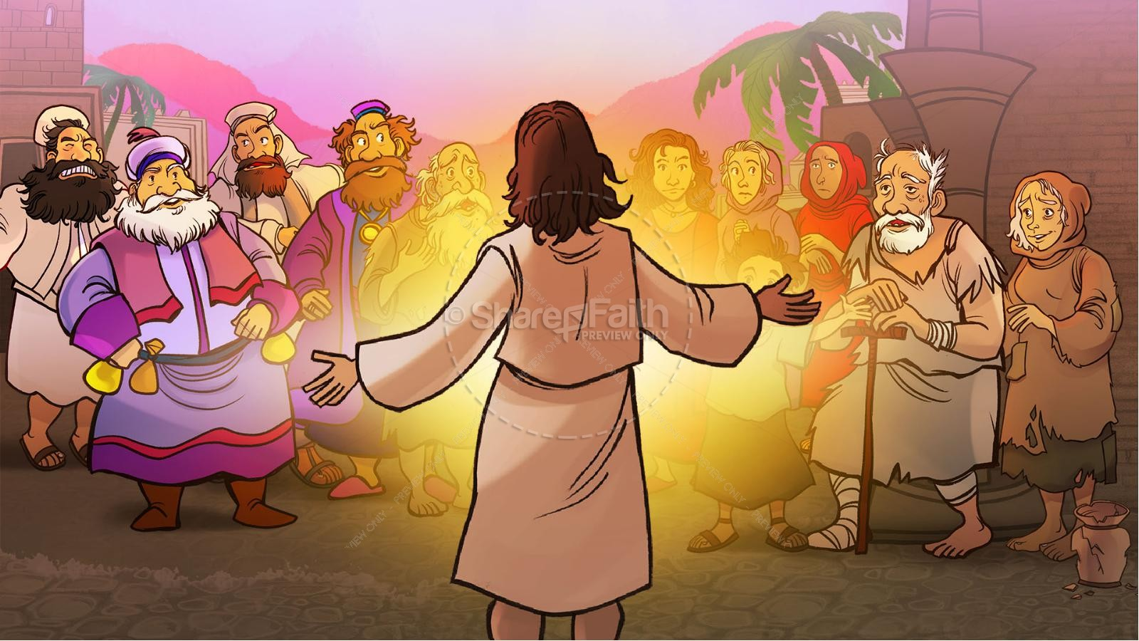 Luke 15 The Parables of the Lost Sheep and Coin Kids Bible Story | slide 2