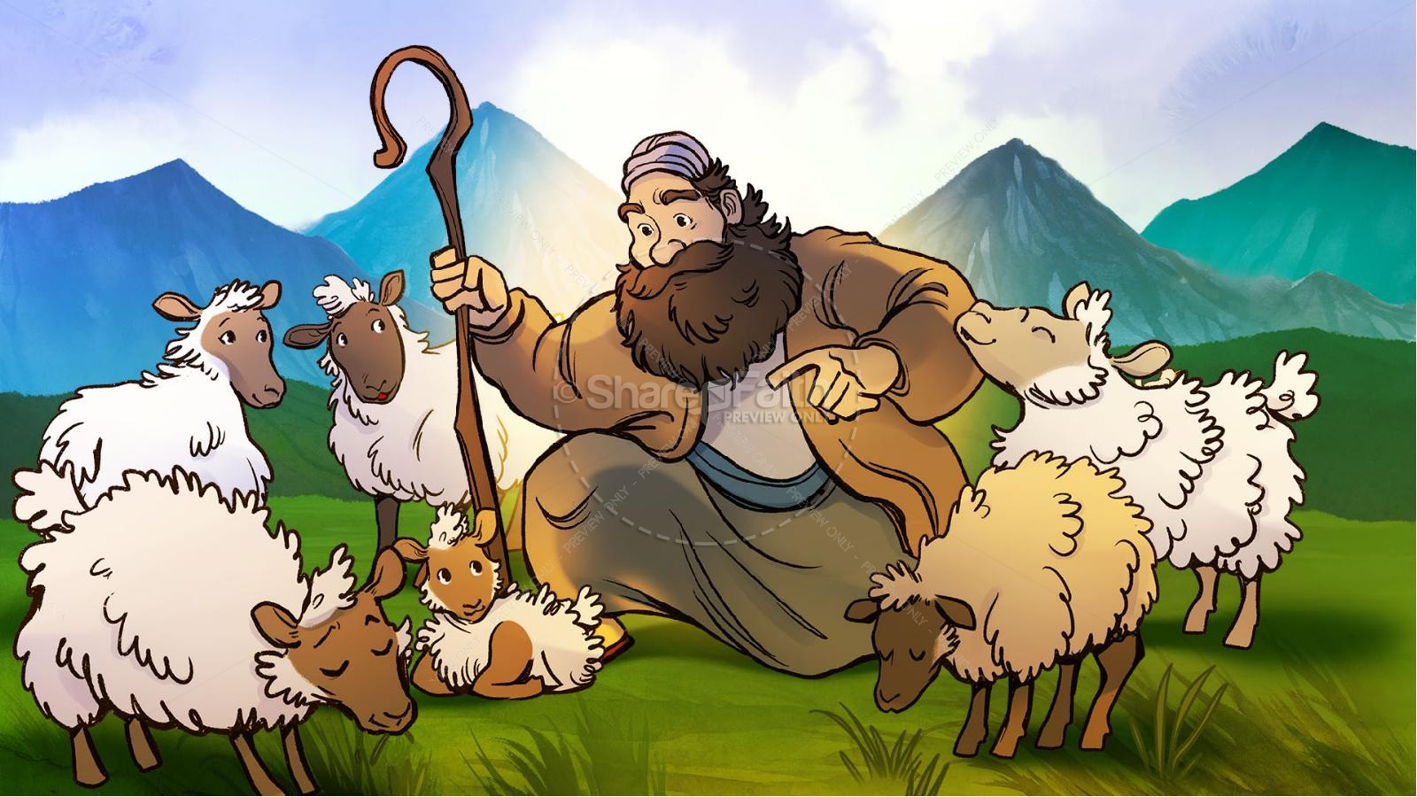Luke 15 The Parables of the Lost Sheep and Coin Kids Bible Story | slide 3