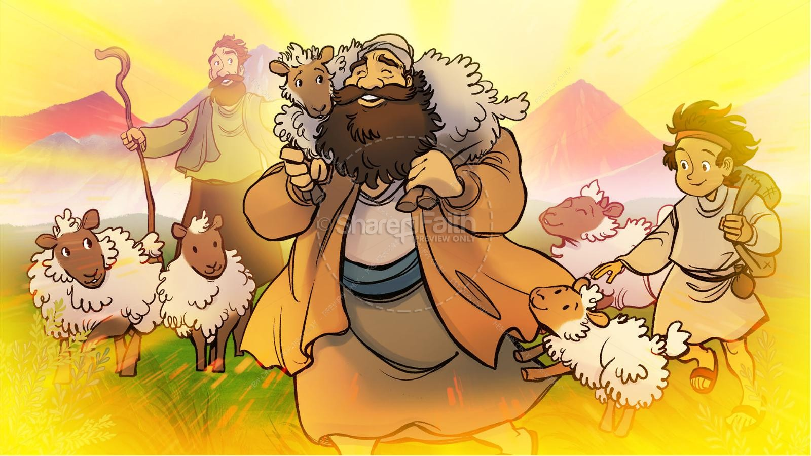 Luke 15 The Parables of the Lost Sheep and Coin Kids Bible Story | slide 4