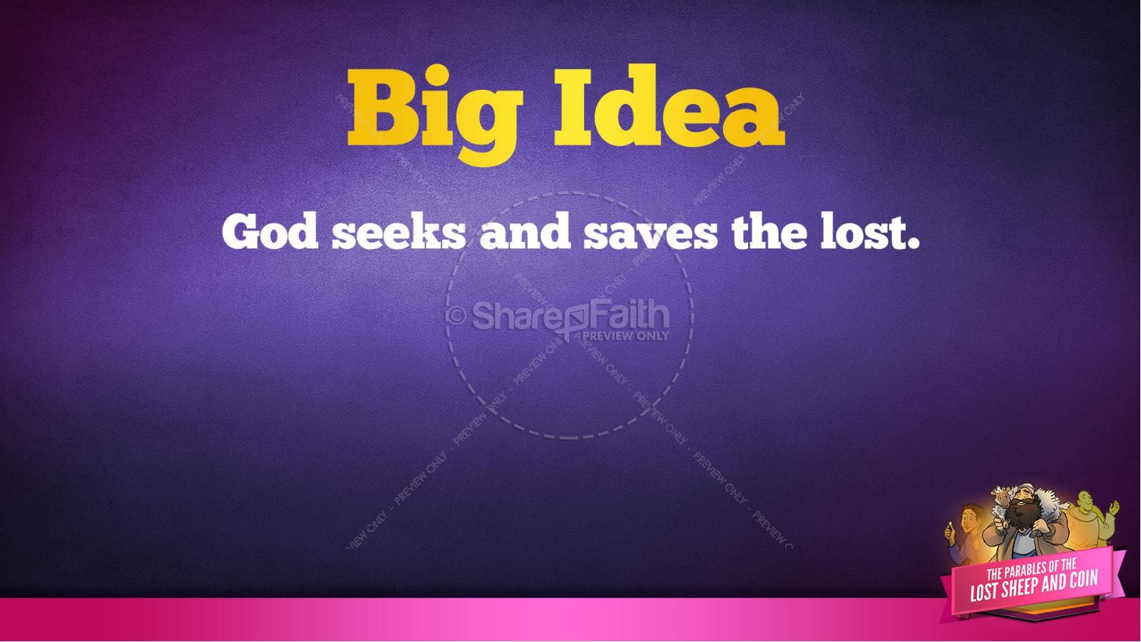 Luke 15 The Parables of the Lost Sheep and Coin Kids Bible Story | slide 38