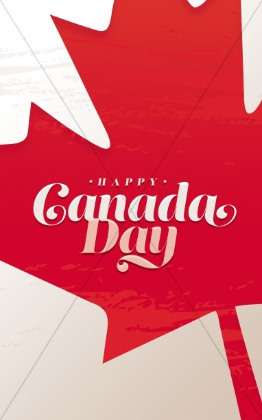 Canada Day Maple Leaf Bifold Bulletin