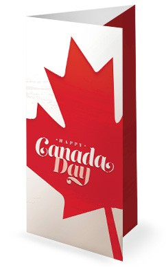 Canada Day Maple Leaf Trifold Bulletin