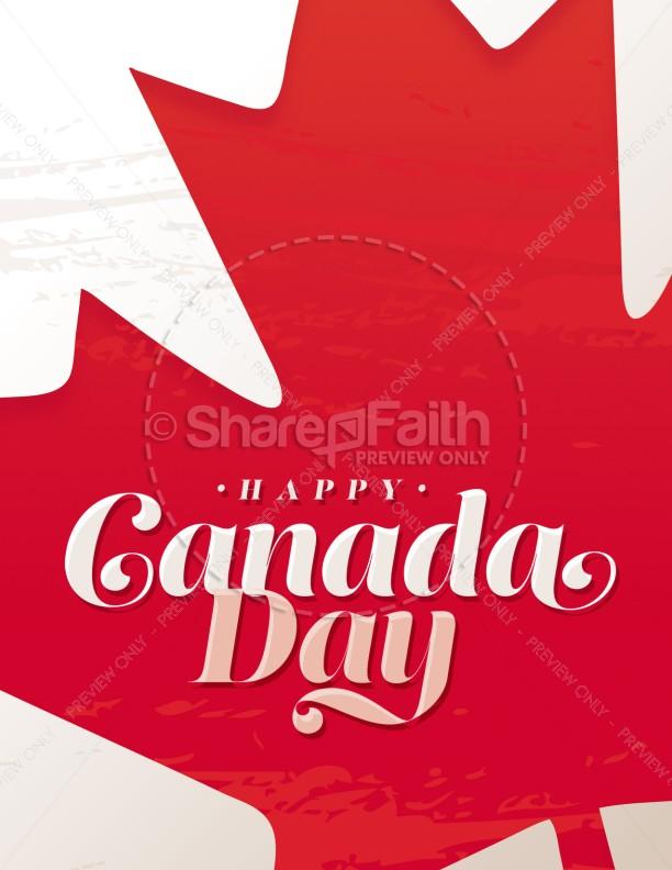Canada Day Maple Leaf Church Flyer
