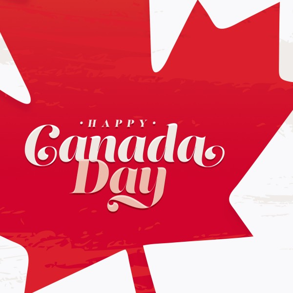 Canada Day Maple Leaf Social Media Graphic