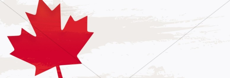 Canada Day Maple Leaf Website Banner