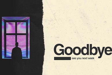Isolated Goodbye Church Motion Graphic