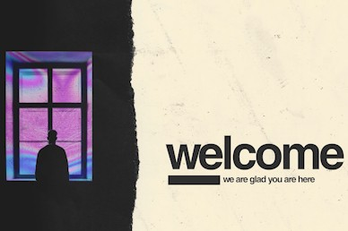 Isolated Welcome Church Motion Graphic