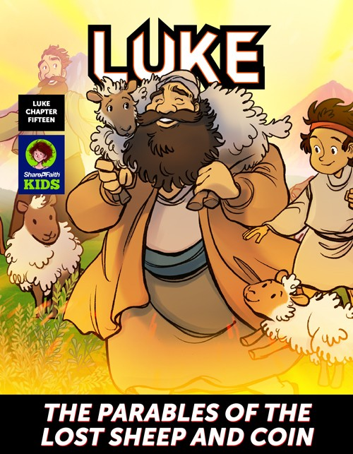 Luke 15 The Parables of the Lost Sheep Digital Comic