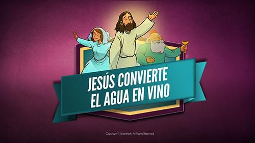 Jesús convierte el agua en vino Video bíblico para niños