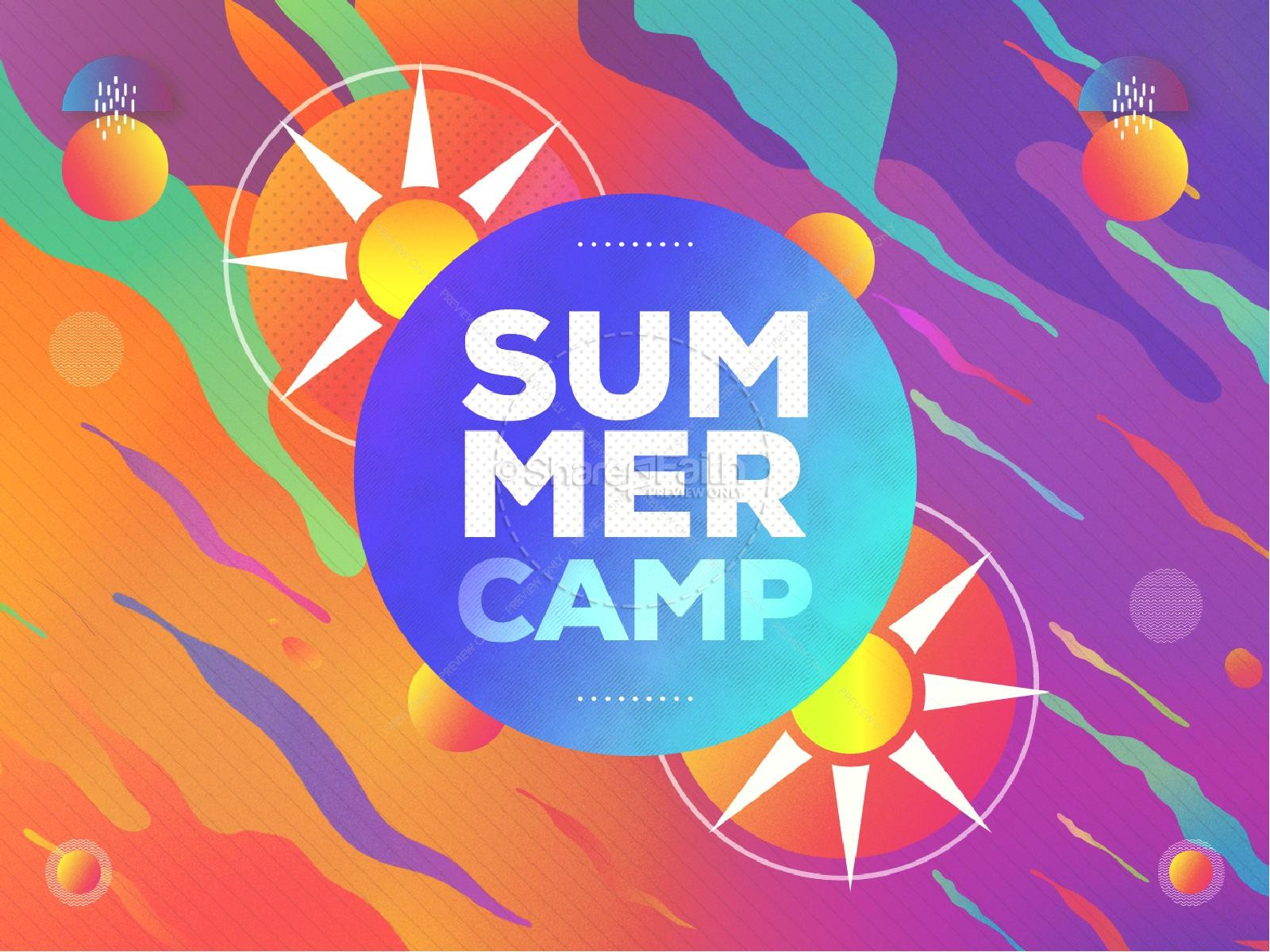 Summer Camp Sun Church PowerPoint