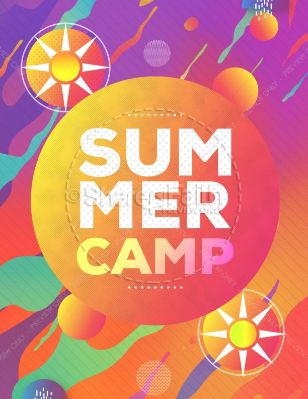 Summer Camp Sun Church Flyer