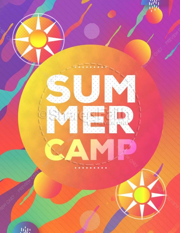Summer Camp Sun Church Flyer | page 1