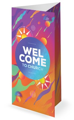 Summer Camp Sun Church Trifold Bulletin