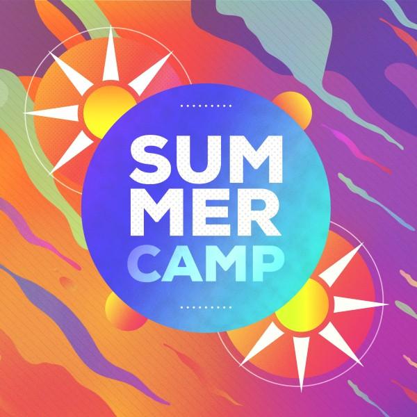 Summer Camp Sun Social Media Graphic