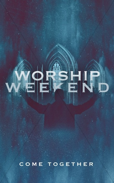 Worship Weekend Church Bifold Bulletin