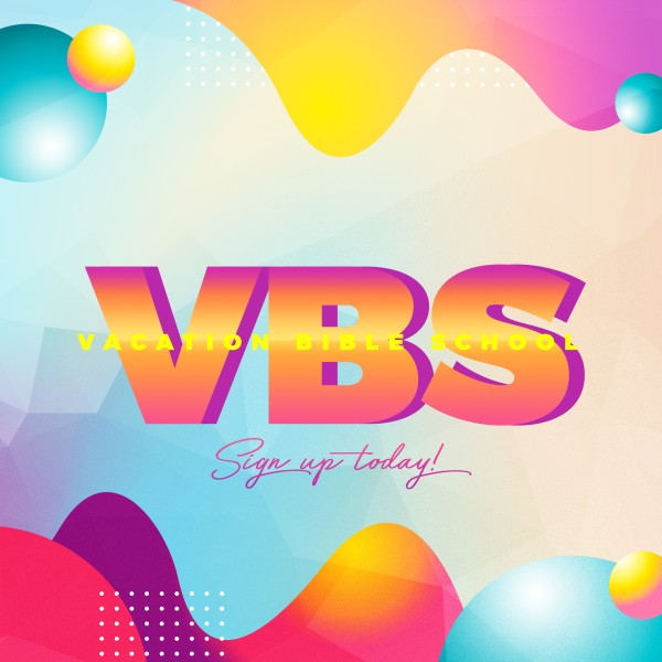 VBS Bubble Church Social Media Graphic