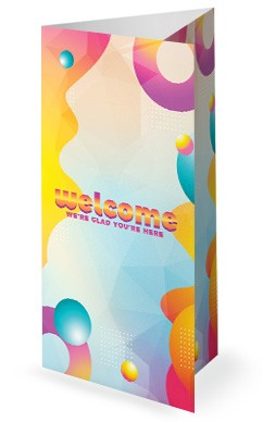 VBS Bubble Church Trifold Bulletin