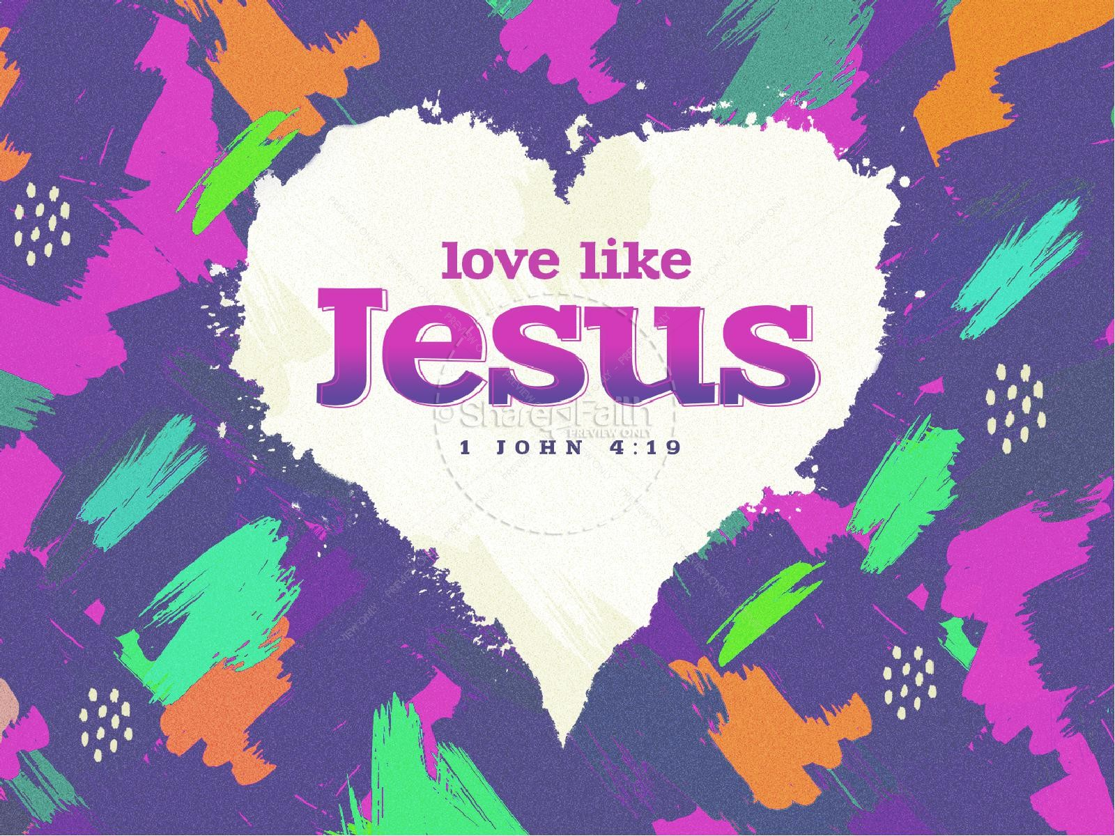Love Like Jesus Church PowerPoint | slide 1