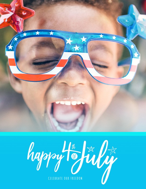 Celebrate Freedom 4th of July Church Flyer