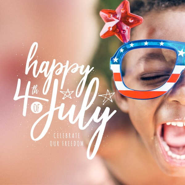 Celebrate Freedom 4th of July Social Media Graphic