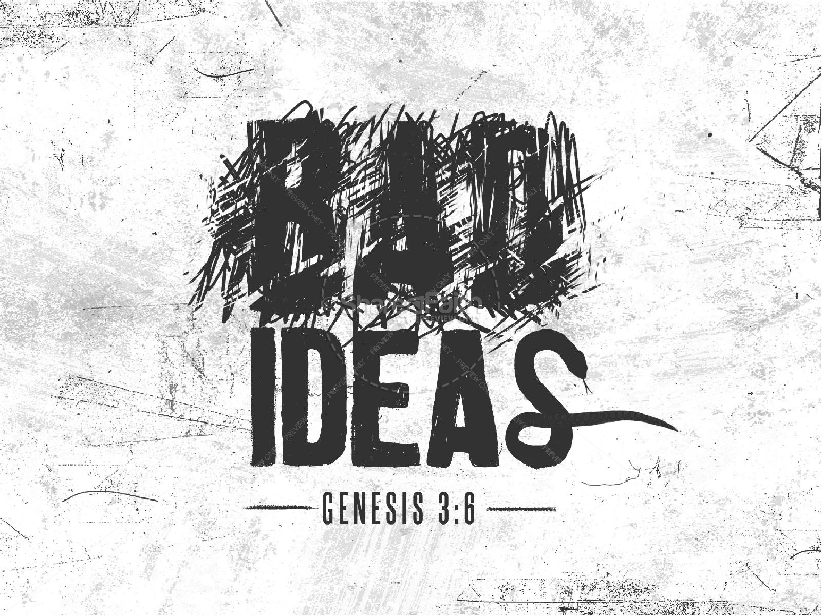 Bad Ideas Church PowerPoint   slide 1