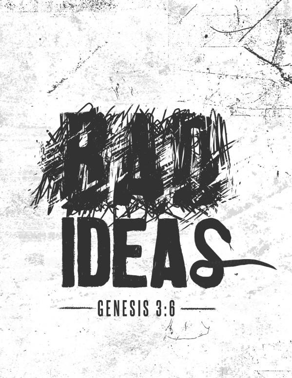 Bad Ideas Church Flyer