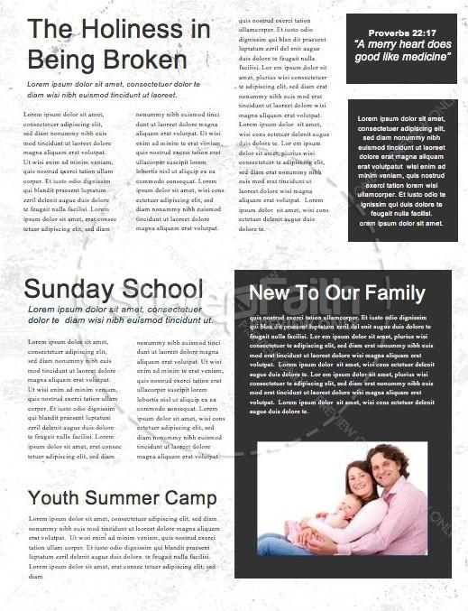 Bad Ideas Church Newsletter