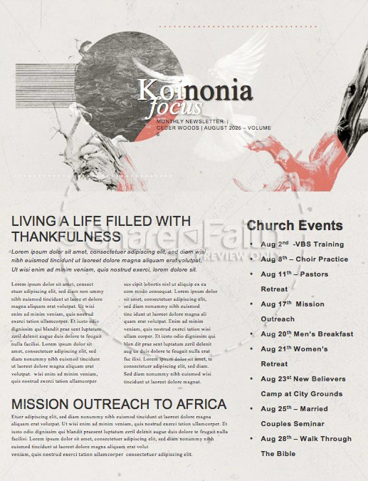 Kingdom Come Church Newsletter