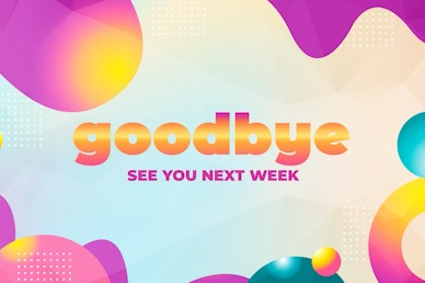 VBS Bubble Goodbye Church Motion Graphic