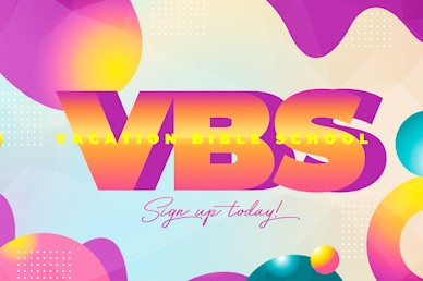 VBS Bubble Title Church Motion Graphic