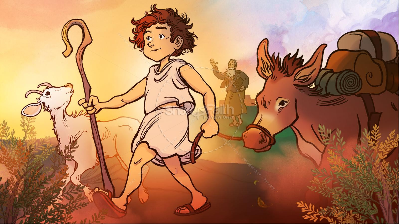 1 Samuel 16 David and Samuel Kids Bible Story