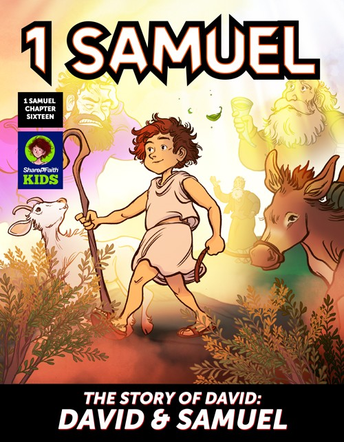 1 Samuel 16 David and Samuel Digital Comic