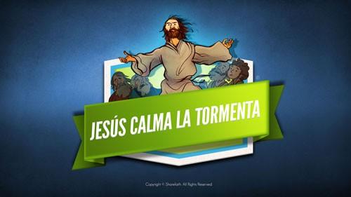 Jesús calma la tormenta Video de la Biblia