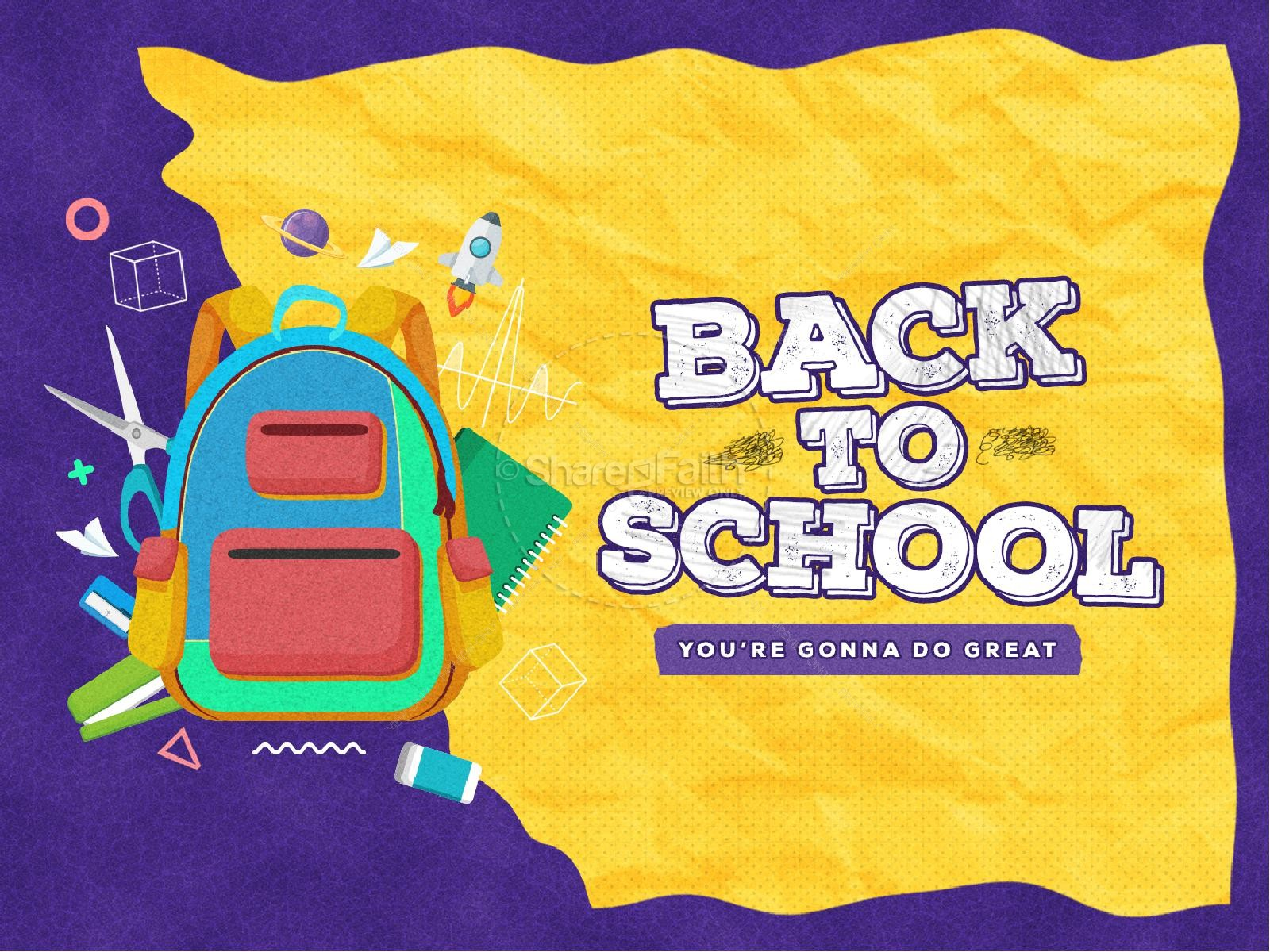 Back To School Yellow Church PowerPoint