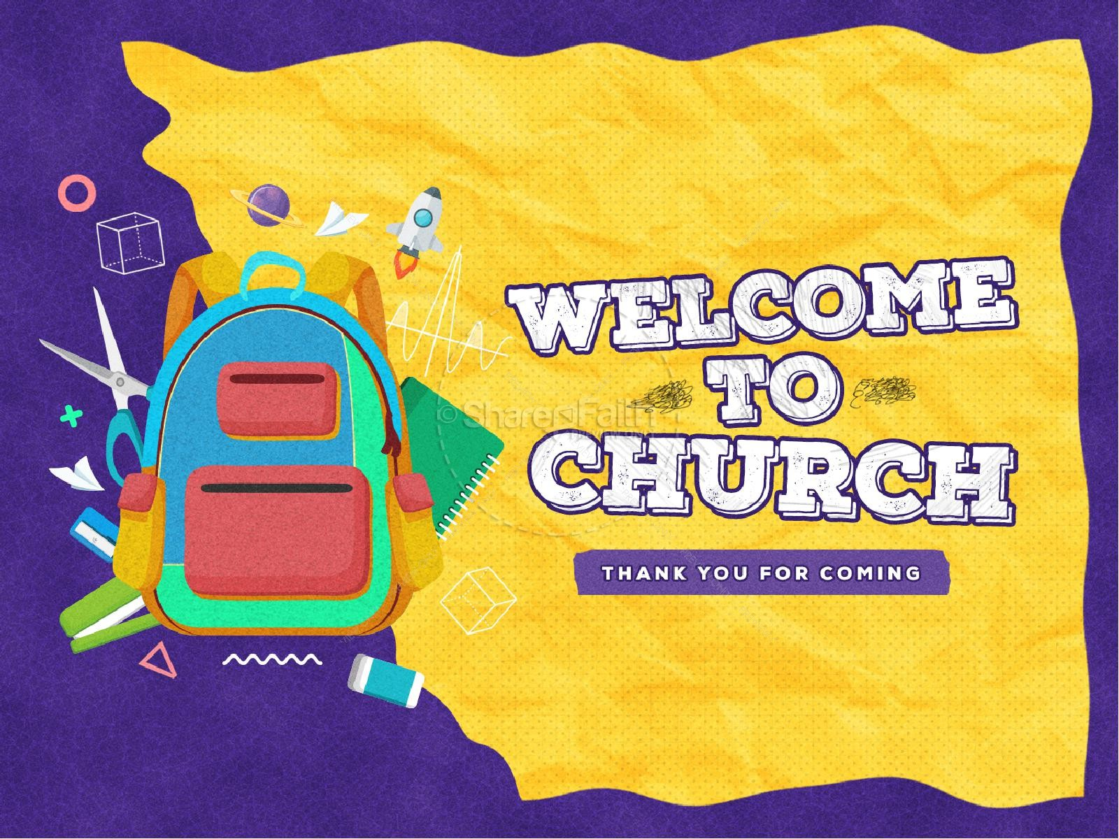 Back To School Yellow Church PowerPoint | slide 2
