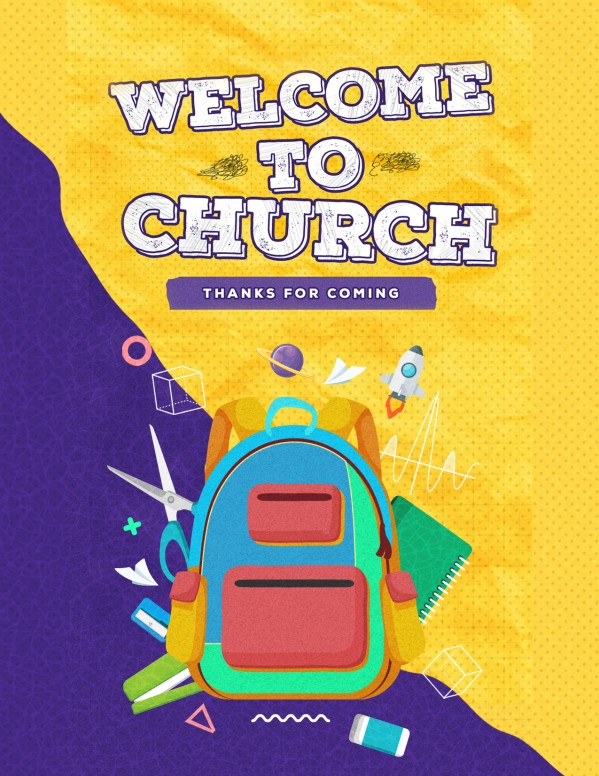 Back To School Yellow Church Flyer