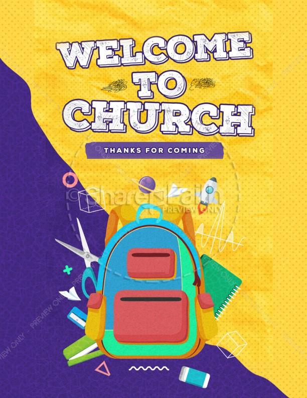 Back To School Yellow Church Flyer