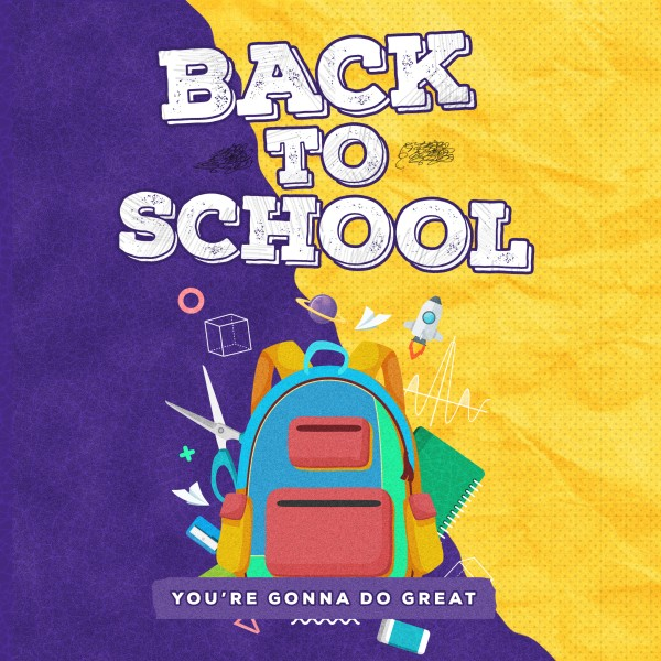 Back To School Yellow Social Media Graphic