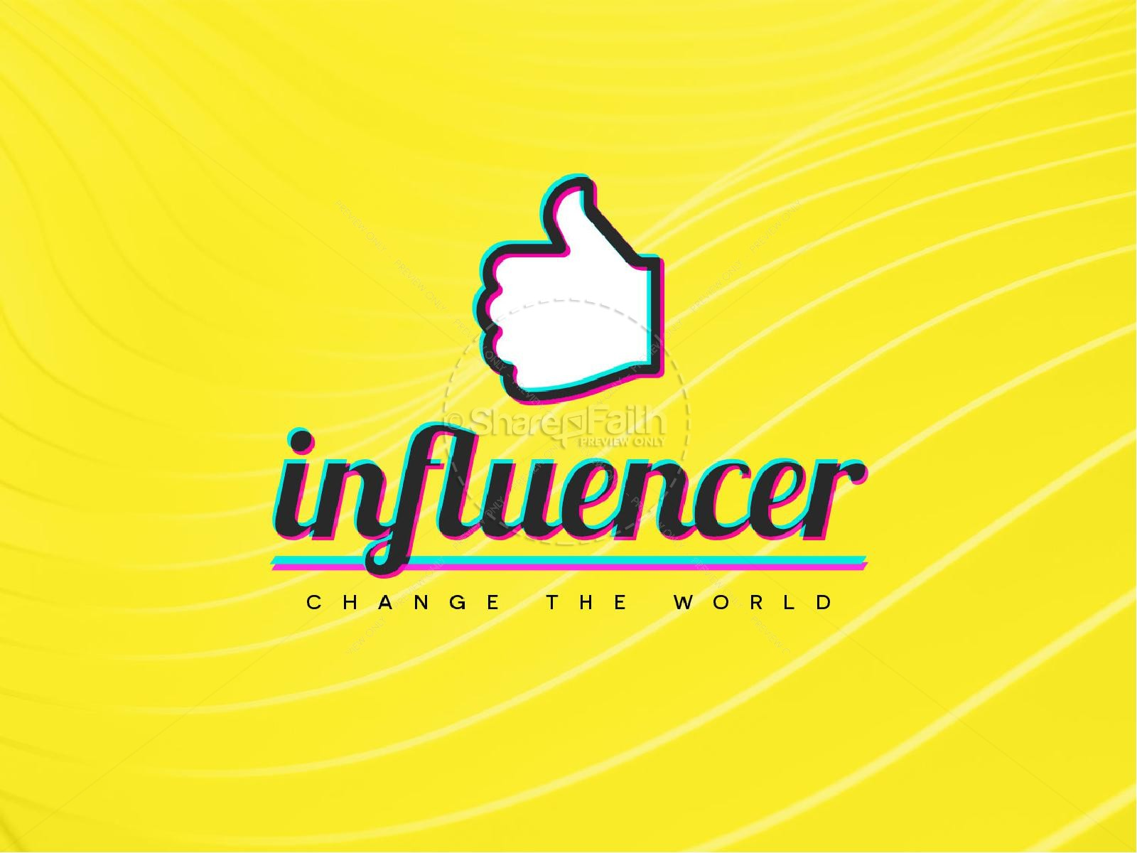 Influencer Yellow Church PowerPoint