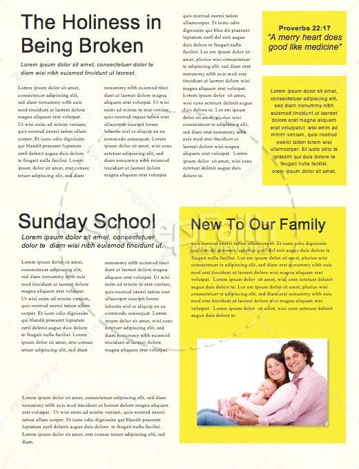Influencer Yellow Church Newsletter