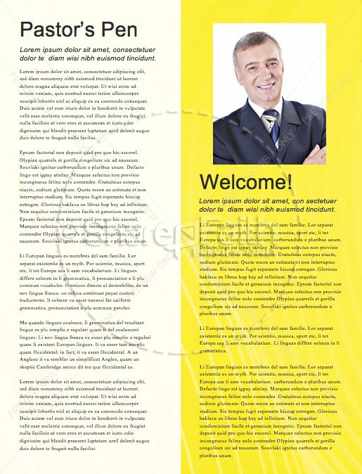 Influencer Yellow Church Newsletter | page 3