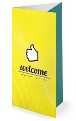Influencer Yellow Church Trifold Bulletin