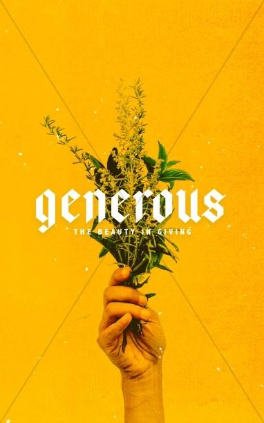 Generous Flowers Bifold Bulletin