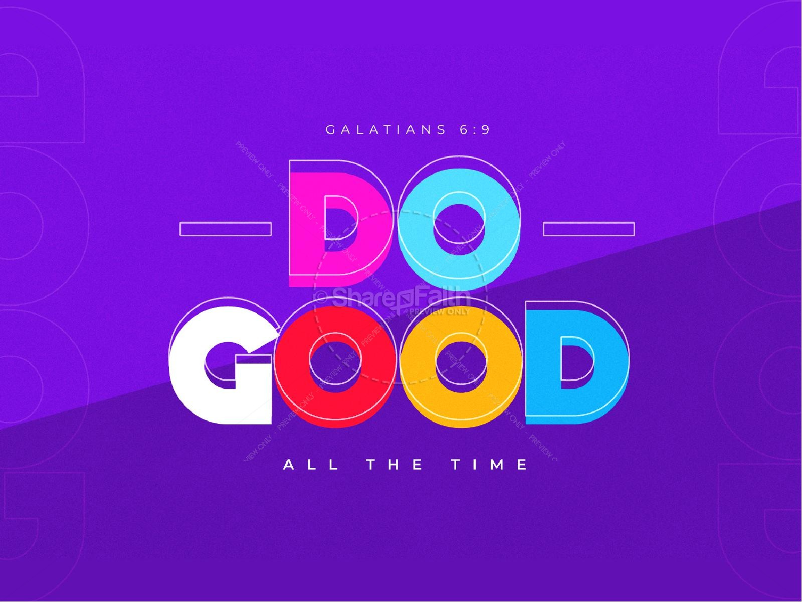Do Good Purple Church PowerPoint
