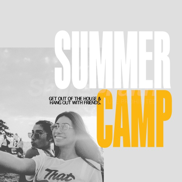 Summer Camp Friends Social Media Graphic