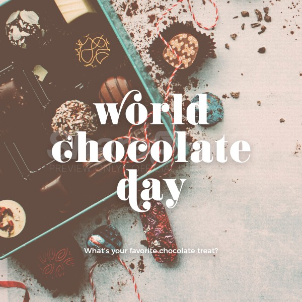 World Chocolate Day Social Media Graphic